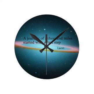 First Step Laozi Quote Clock