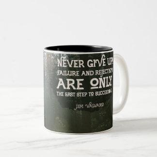 First Step To Succeeding Two-Tone Coffee Mug