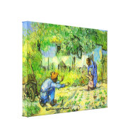First steps, 1890 Vincent van Gogh Stretched Canvas Print