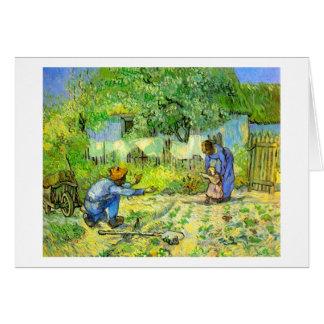 First steps, 1890 Vincent van Gogh. Card