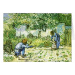 First steps, 1890 Vincent van Gogh. Greeting Card