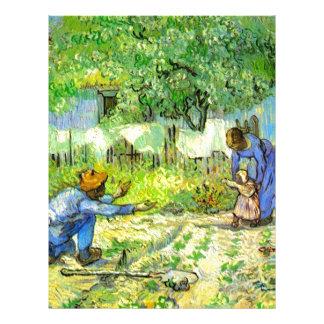First steps, 1890 Vincent van Gogh. Letterhead