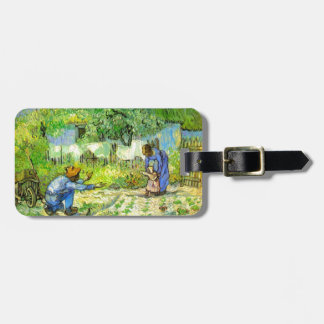 First steps, 1890 Vincent van Gogh. Luggage Tag