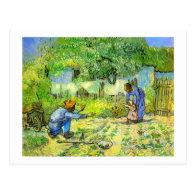 First steps, 1890 Vincent van Gogh. Postcards