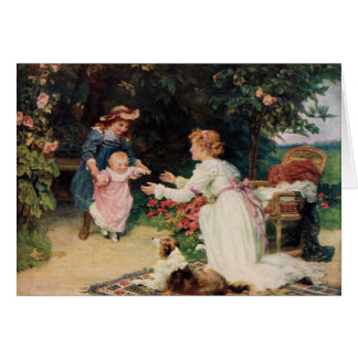 First Steps, 1910, by Fred Morgan (1847-1927) Card