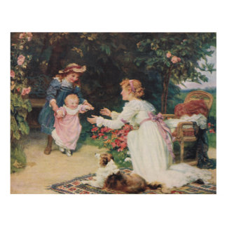 First Steps, 1910, by Fred Morgan (1847-1927) Panel Wall Art