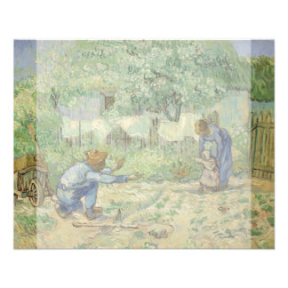 First Steps after Millet by Vincent Van Gogh Full Color Flyer