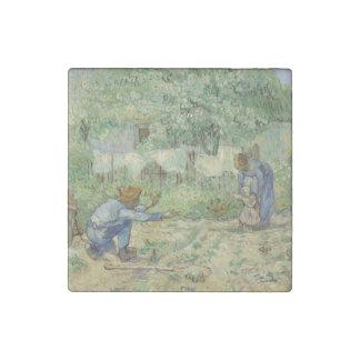 First Steps after Millet by Vincent Van Gogh Stone Magnet