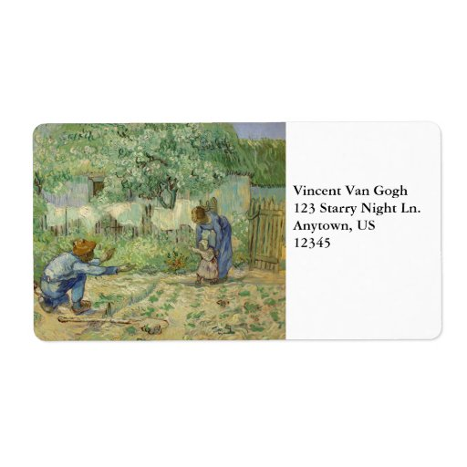 First Steps after Millet by Vincent Van Gogh Personalized Shipping Labels