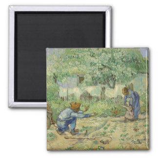 First Steps after Millet by Vincent Van Gogh Fridge Magnets
