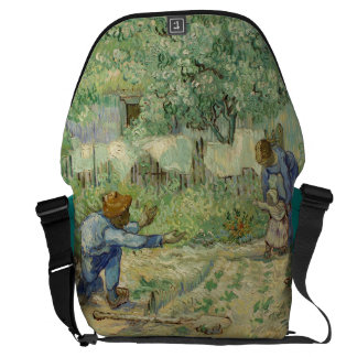First Steps after Millet by Vincent Van Gogh Courier Bags