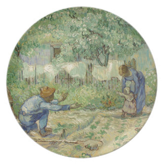 First Steps after Millet by Vincent Van Gogh Party Plates