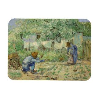 First Steps after Millet by Vincent Van Gogh Magnets