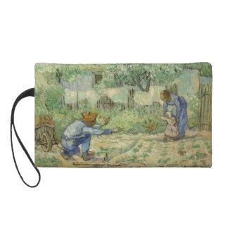First Steps after Millet by Vincent Van Gogh Wristlet Purse