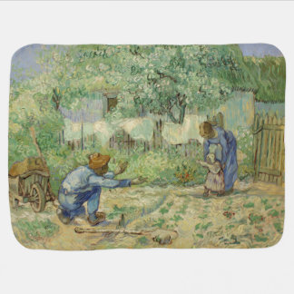 First Steps after Millet by Vincent Van Gogh Baby Blankets