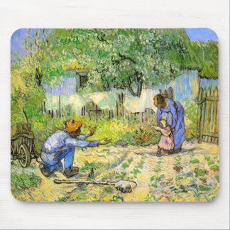 First Steps (after Millet) Van Gogh Fine Art Mouse Pad