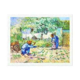 First Steps (after Millet) Vincent van Gogh art Gallery Wrap Canvas