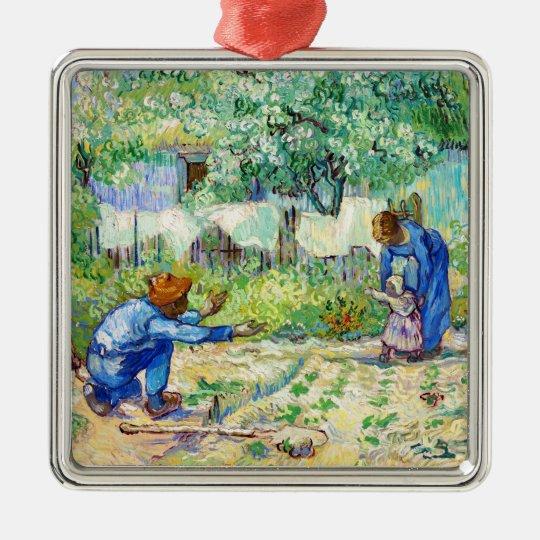 First Steps (after Millet) Vincent van Gogh art Metal Ornament