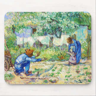 First Steps (after Millet) Vincent van Gogh art Mouse Pad