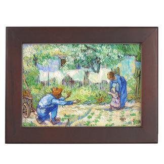 First Steps (after Millet) Vincent van Gogh art Memory Box