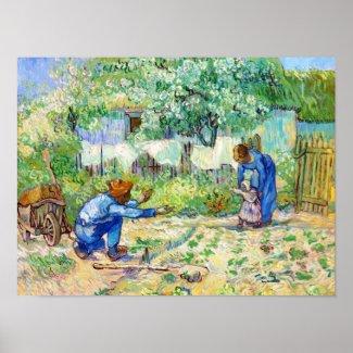 First Steps (after Millet) Vincent van Gogh art Poster