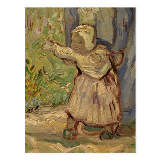 First Steps, after Millet - Vincent Van Gogh Postcard