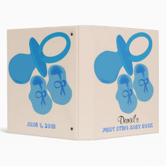 First Steps Baby Book 3 Ring Binders
