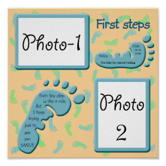 First steps - Baby Boy Print