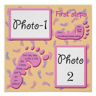 First Steps - Baby Girl Poster