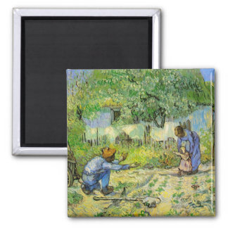 First Steps by Vincent van Gogh Magnet