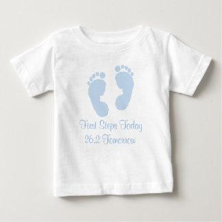 First Steps Today 26.2 Tomorrow Marathon Baby T-sh Tshirts
