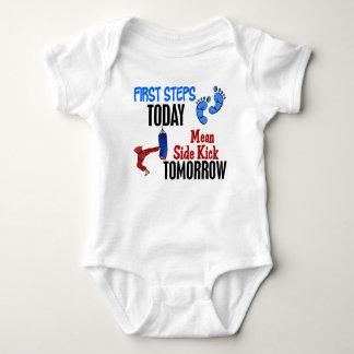 First Steps Today Mean Sidekick Tomorrow Karate Tee Shirt