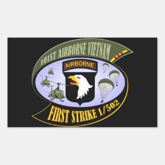 First Strike 1/502 Rectangular Sticker