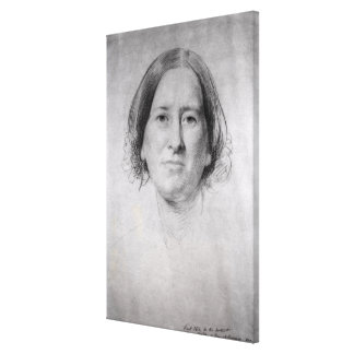 First Study for the Portrait of George Eliot Canvas Print