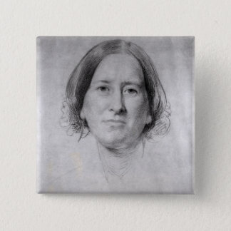 First Study for the Portrait of George Eliot Pinback Button