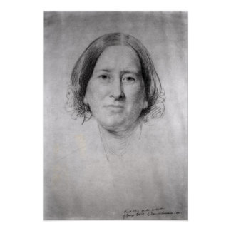First Study for the Portrait of George Eliot Poster