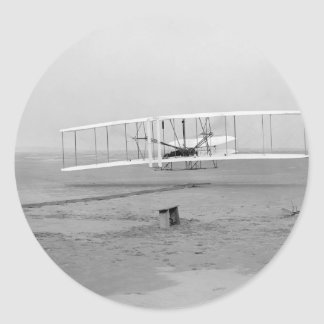 First Successful Flight of the Wright Flyer Classic Round Sticker