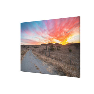 First Sunset of the Day Canvas Print