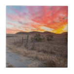 First Sunset of the Day Ceramic Tile