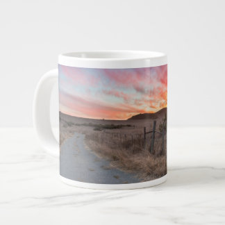 First Sunset of the Day Giant Coffee Mug