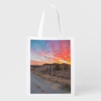First Sunset of the Day Grocery Bag