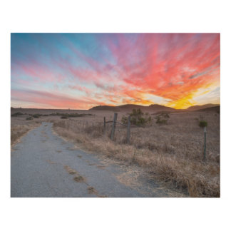 First Sunset of the Day Panel Wall Art