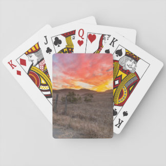 First Sunset of the Day Playing Cards