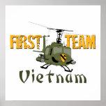 First Team Vietnam Gunship Print