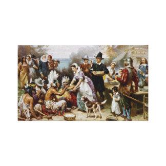 First Thanksgiving Canvas Art Print