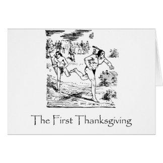 First Thanksgiving Card