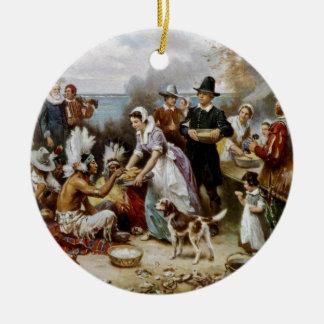 First Thanksgiving Ceramic Ornament