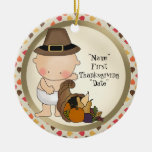 First Thanksgiving Holiday add words ornament