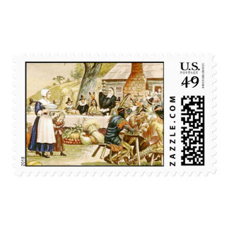 First Thanksgiving in America Postage Stamp