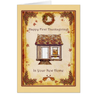 First Thanksgiving in New Home Card
